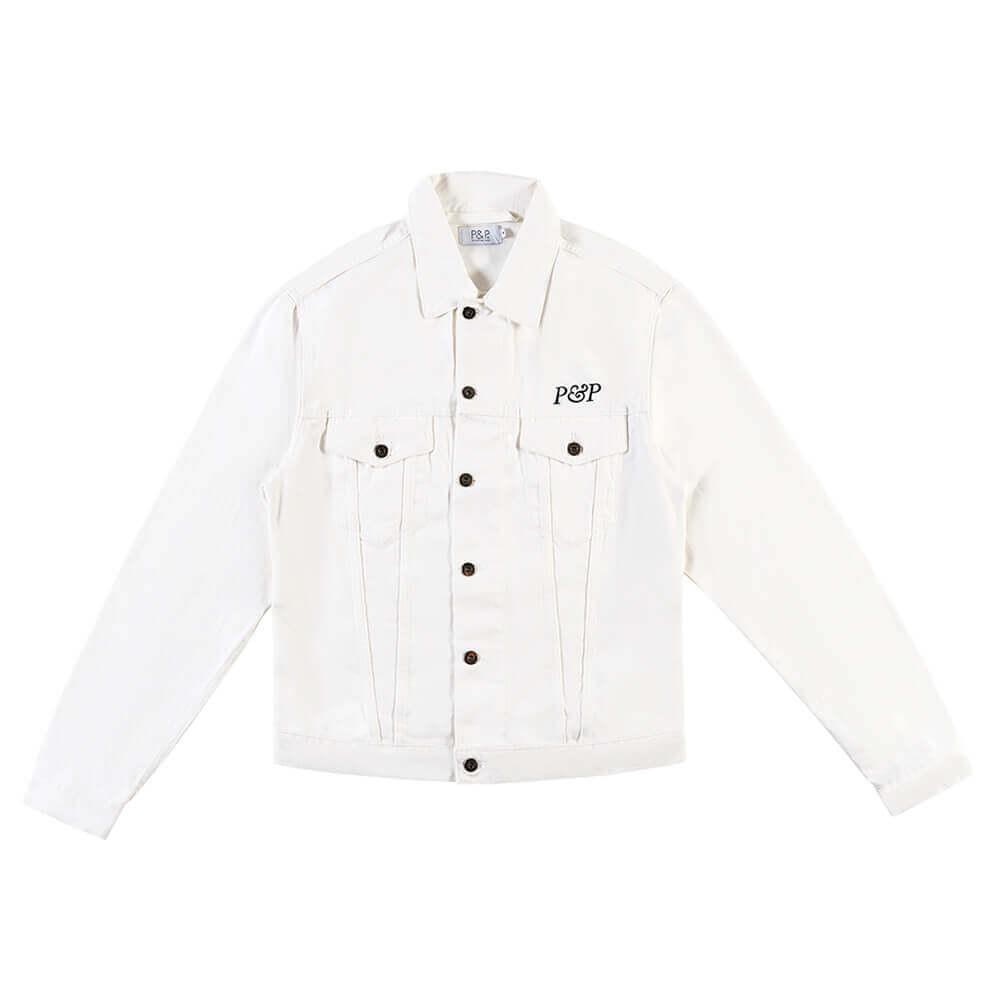Jeans Jacket P&P White