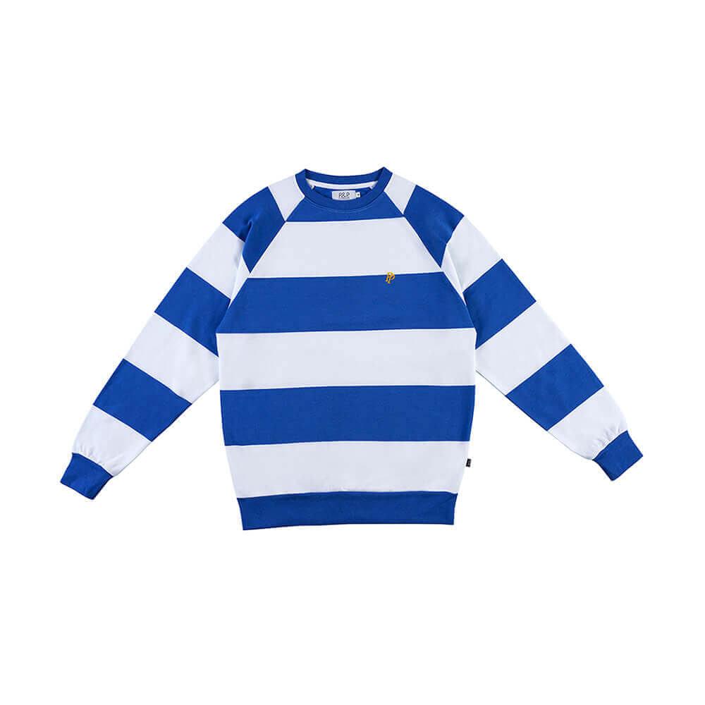 Big Stripes Crew Neck Sweatshirt