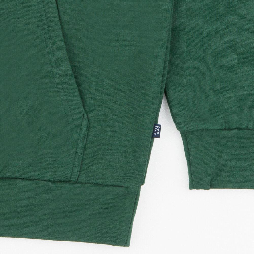 Hoodie Signature Dark Green Pocket Detail