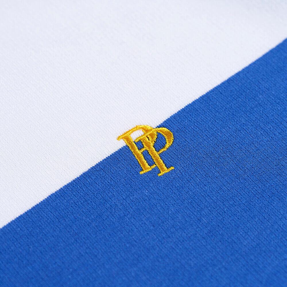 Big Stripes Crew Neck Sweatshirt Embroidery Detail