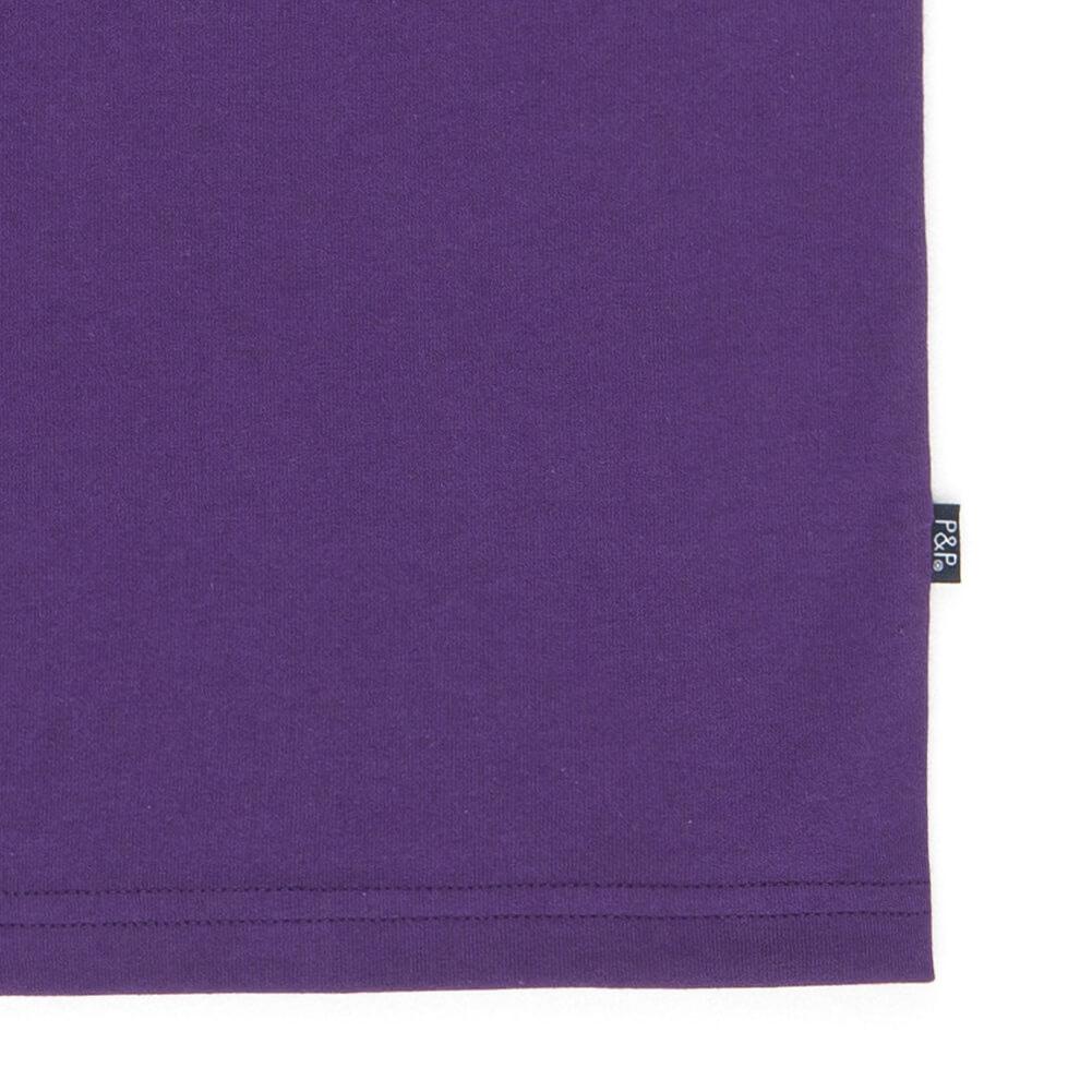 Organic Purple T-Shirt Kiss Detail