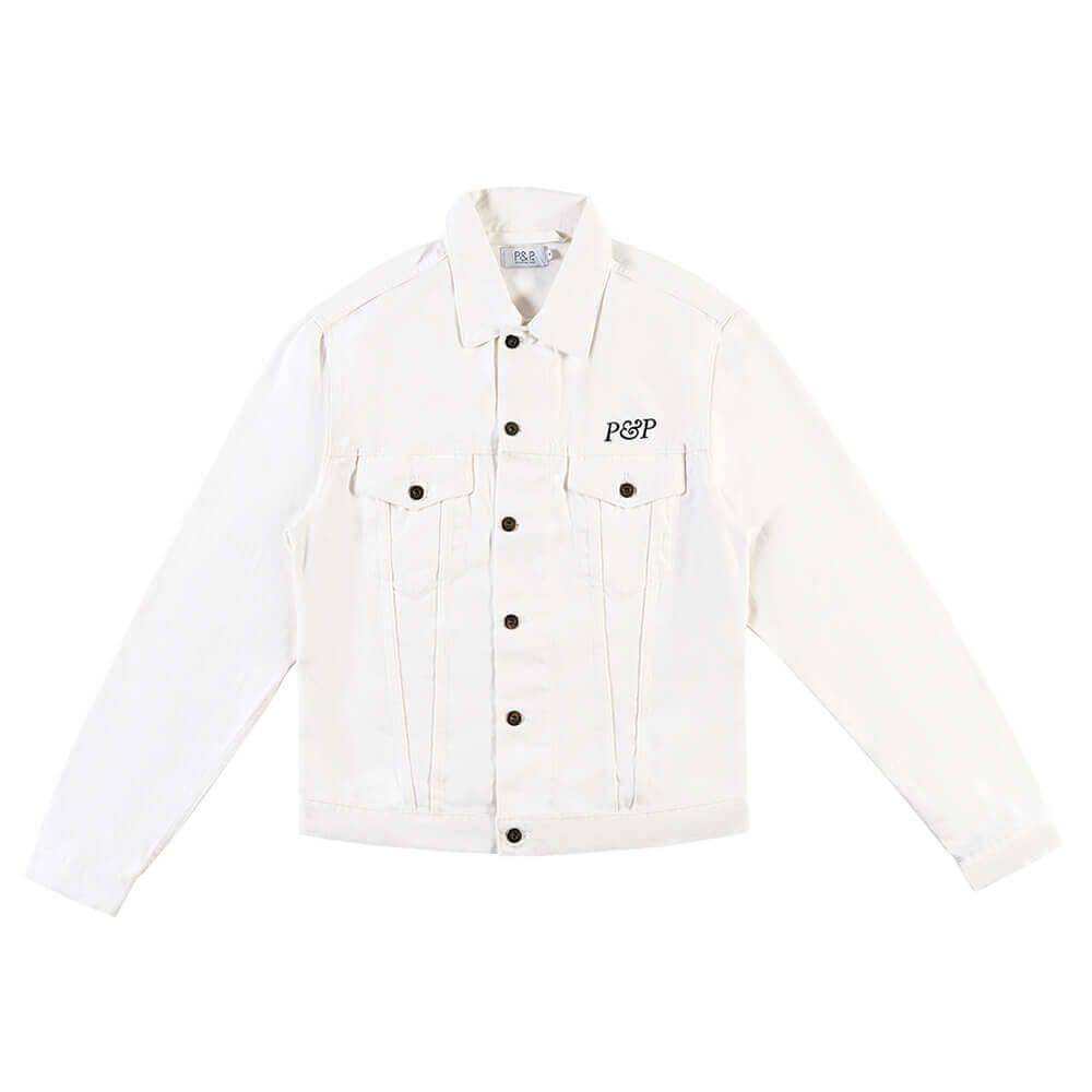 Jeans Jacket P&P White