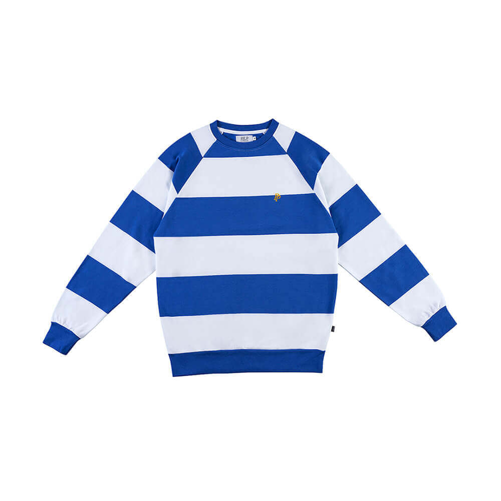 Big Stripes Crew Neck Sweatshirt