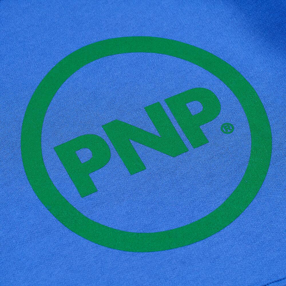 Organic Hoodie Circle Royal Blue Print Detail