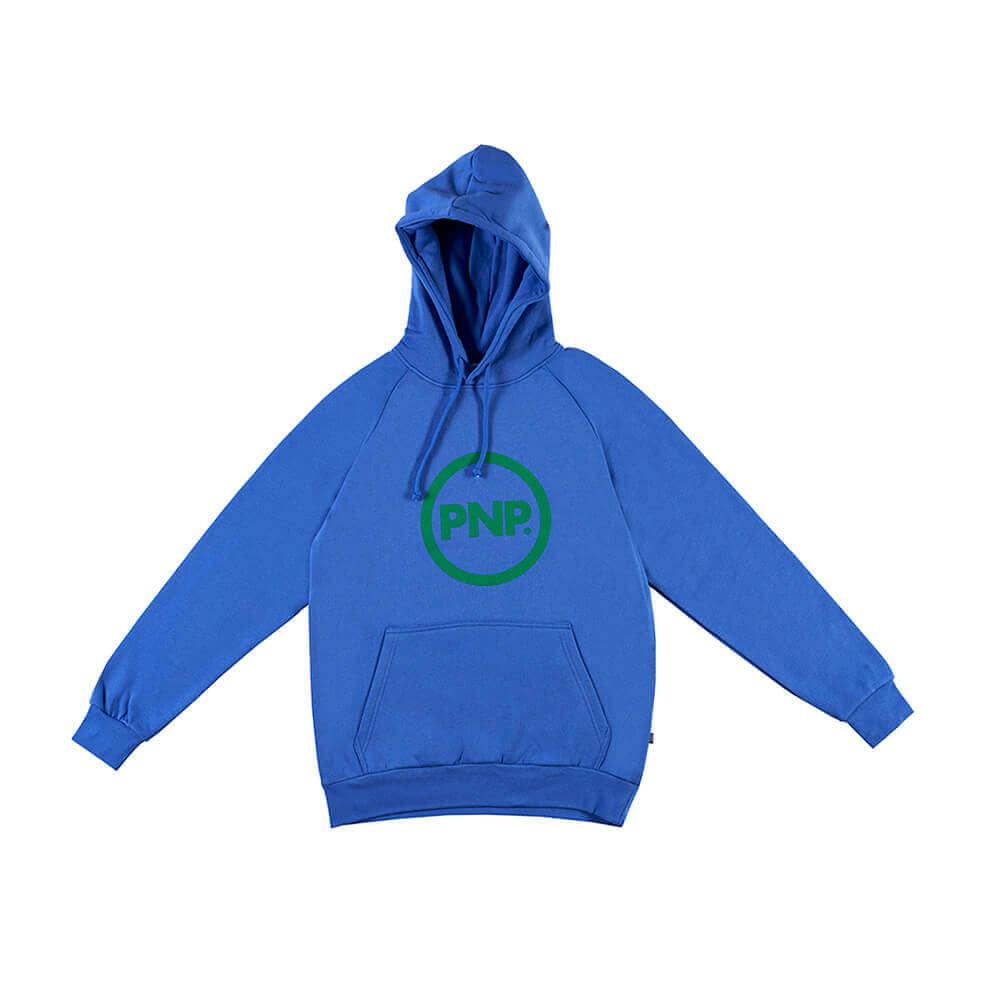 Organic Hoodie Circle Royal Blue