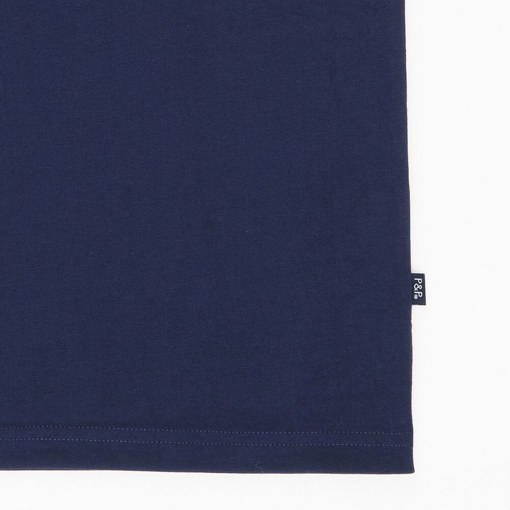 Organic Navy T-Shirt 10 Francs Detail