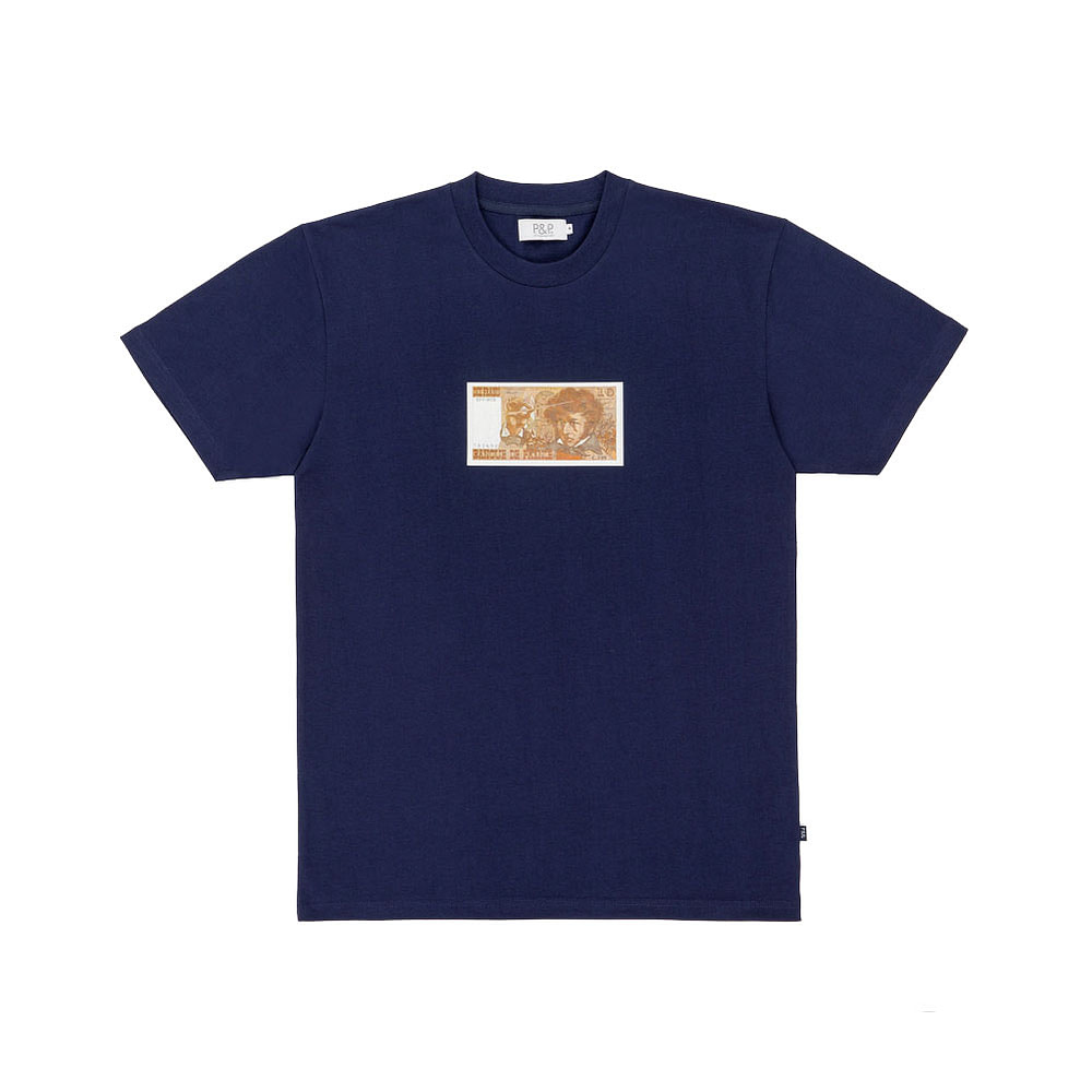 Organic Navy T-Shirt 10 Francs