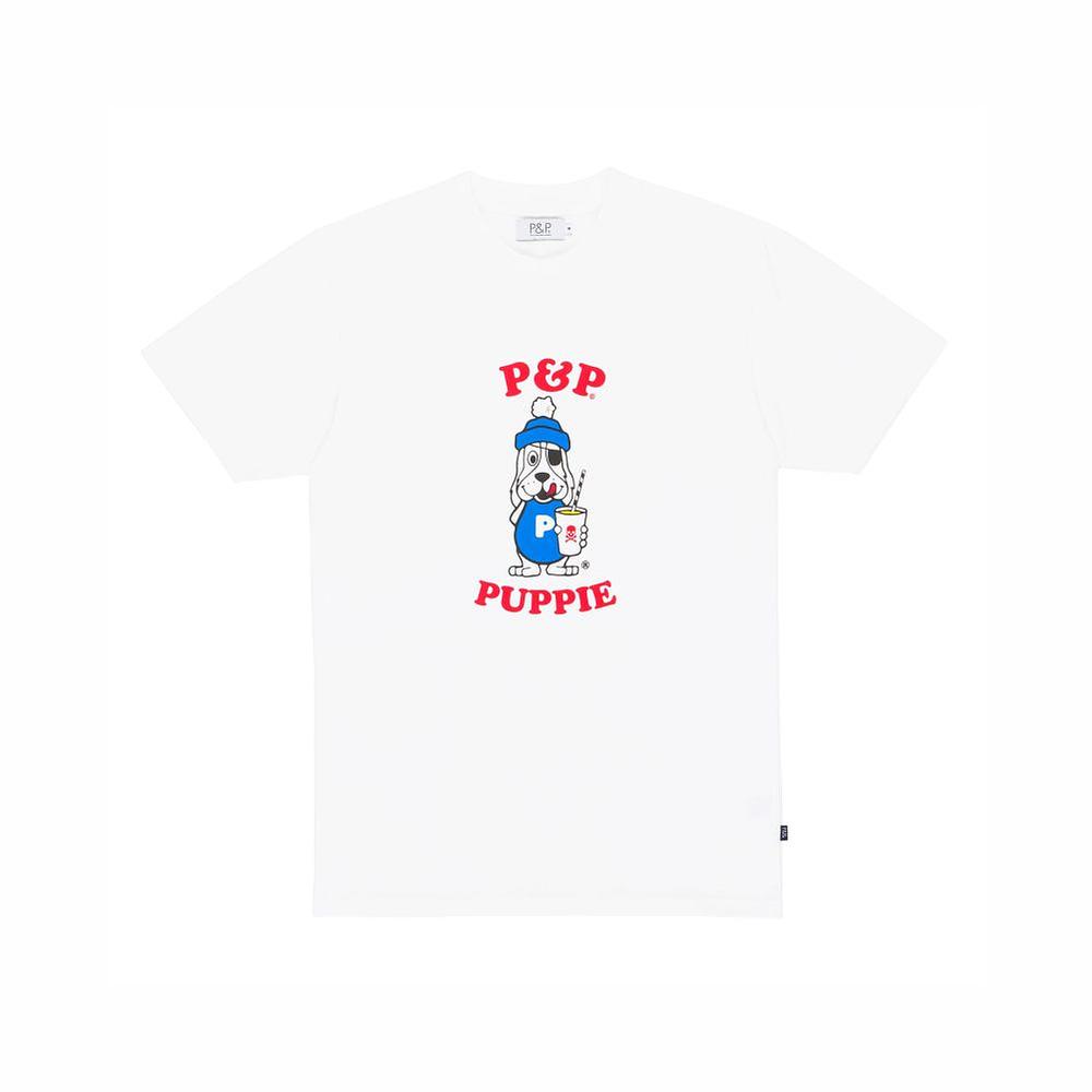 Organic White T-Shirt P&P Puppie