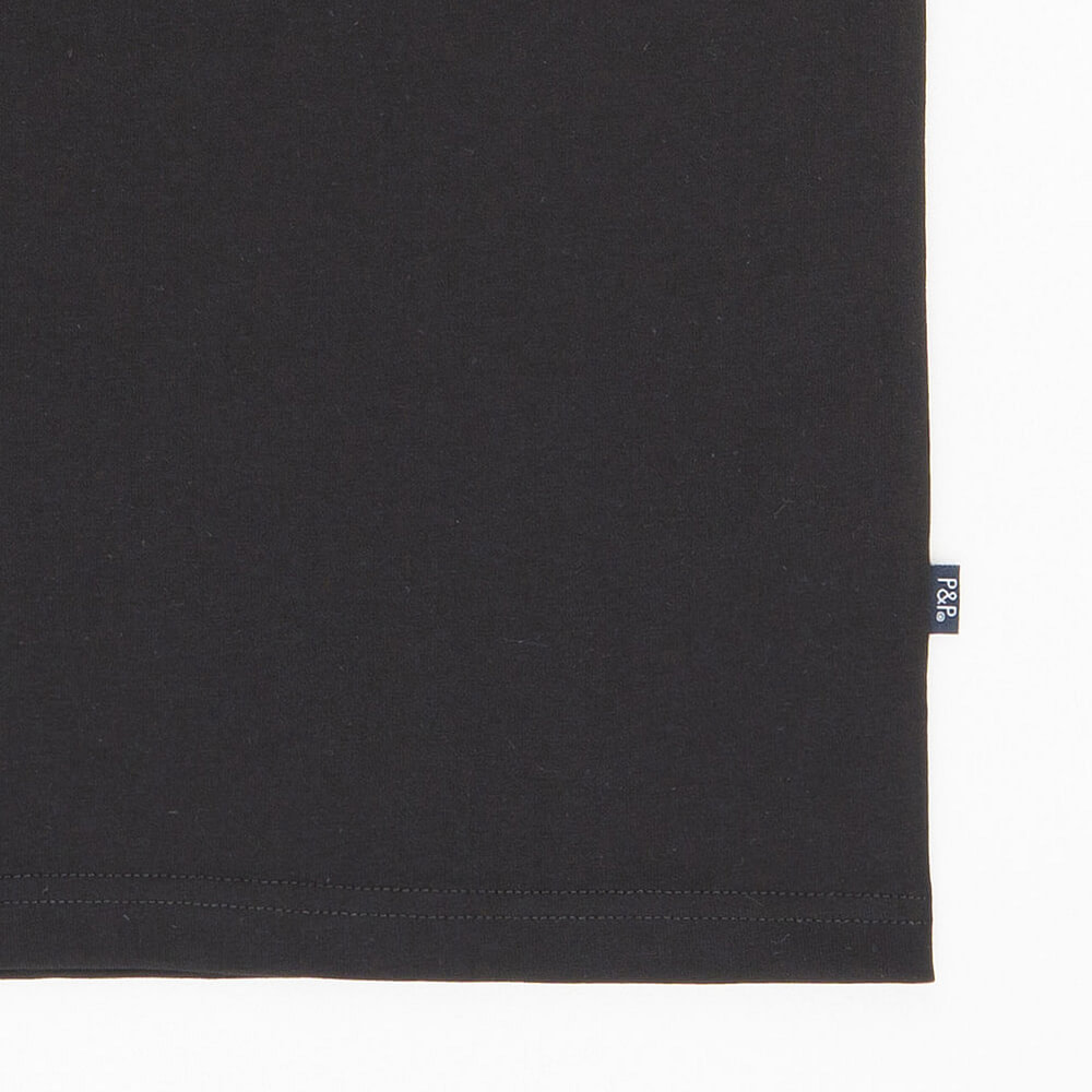 Organic Black T-Shirt Blur Day Detail