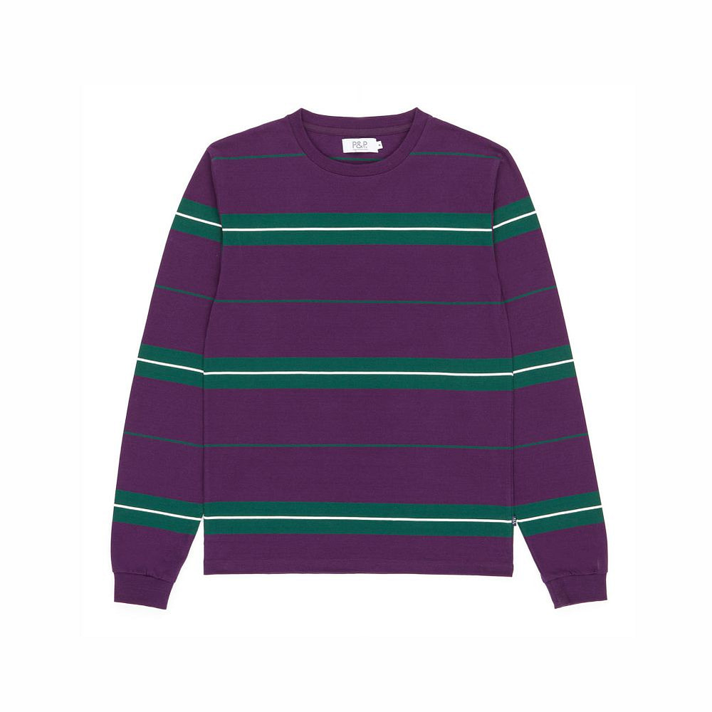 Striped Long Sleeve T-Shirt Tricolor