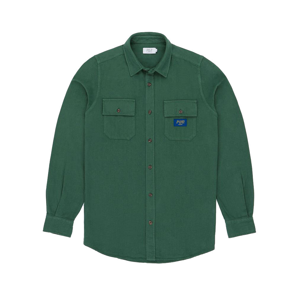 Flanel Shirt Dark Green