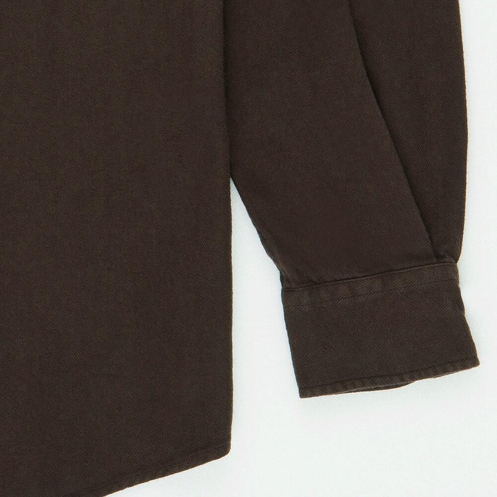 Flanel Shirt Brown Detail