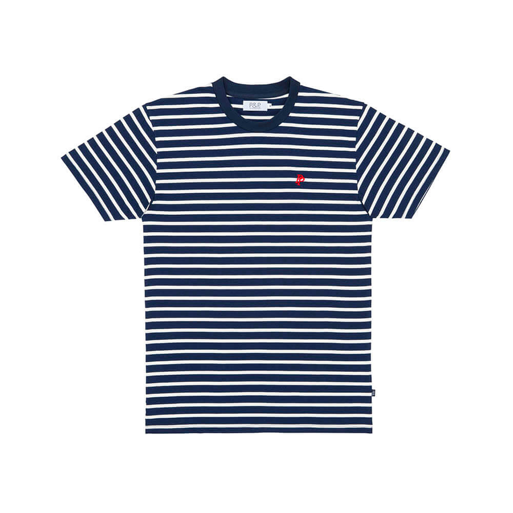 Thin Stripes T-Shirt PNP Navy/White