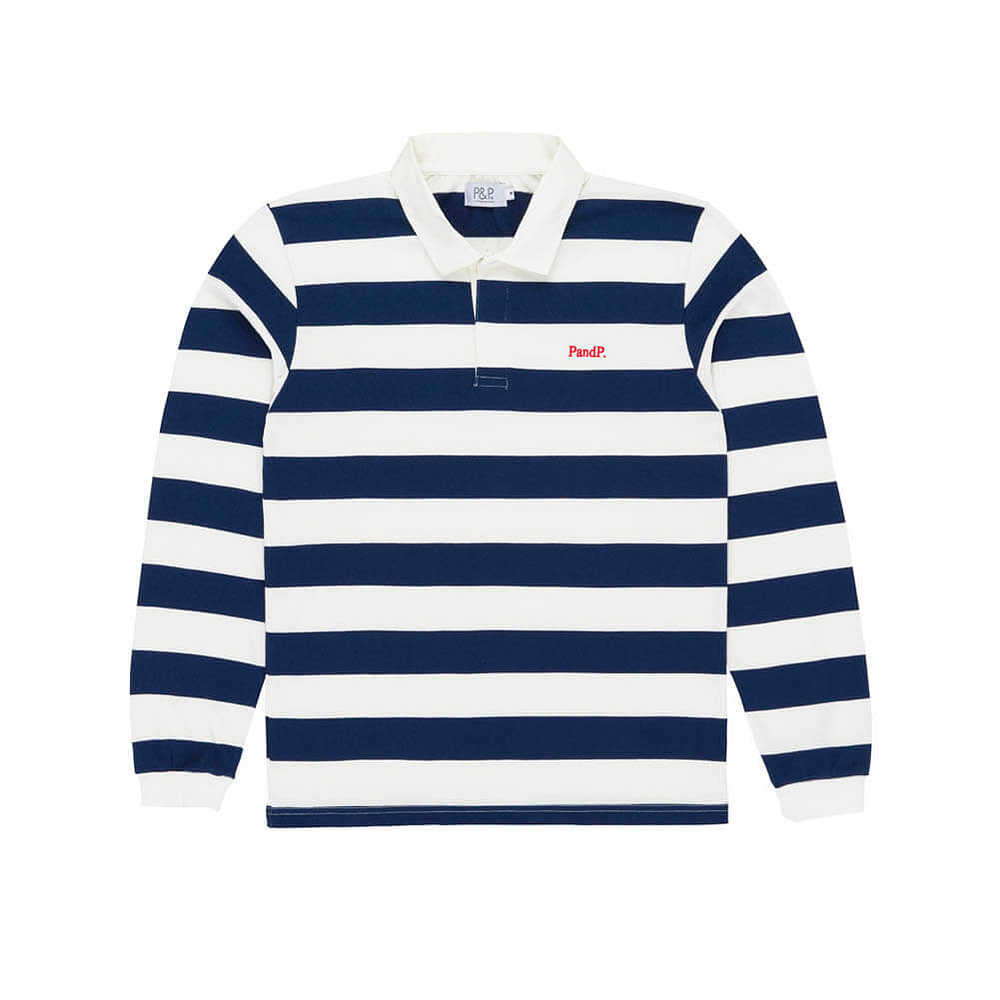 Stripes Polo Rugby PNP Navy/White