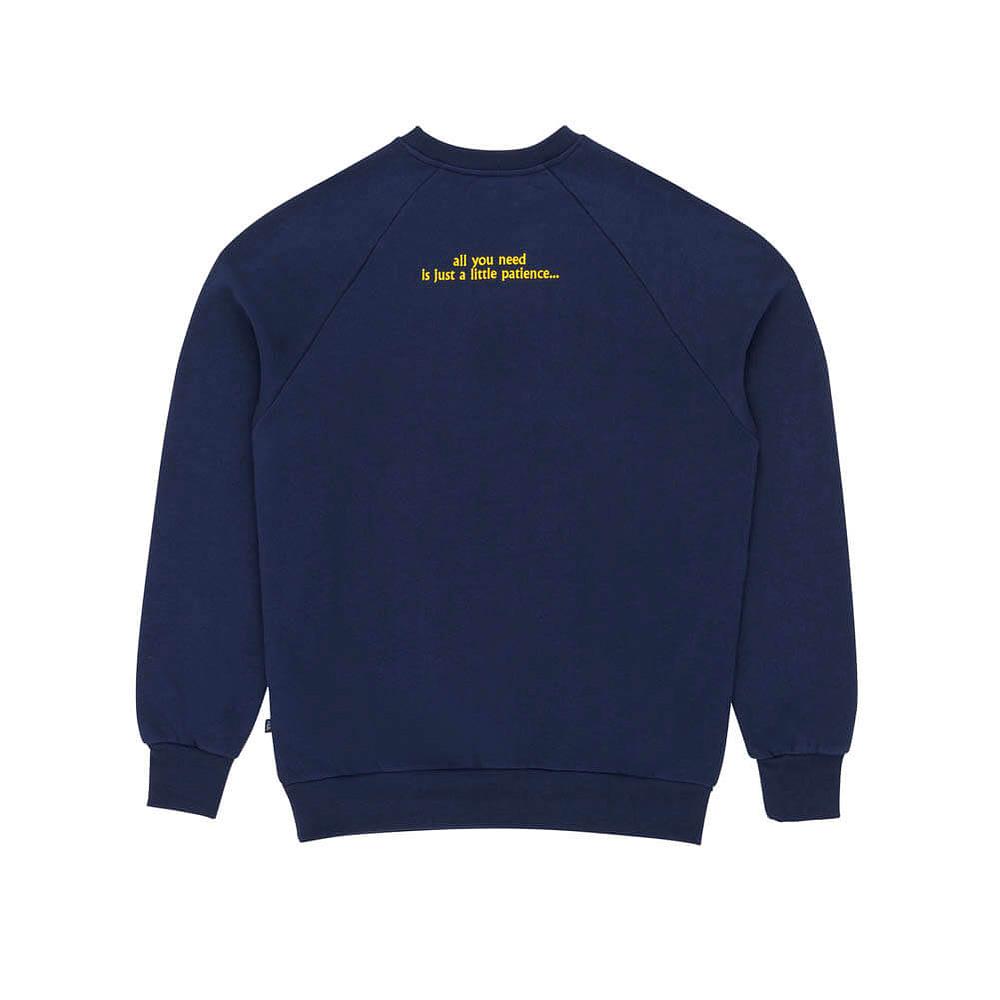 Crew Neck Sweatshirt PandP Patience Navy Back
