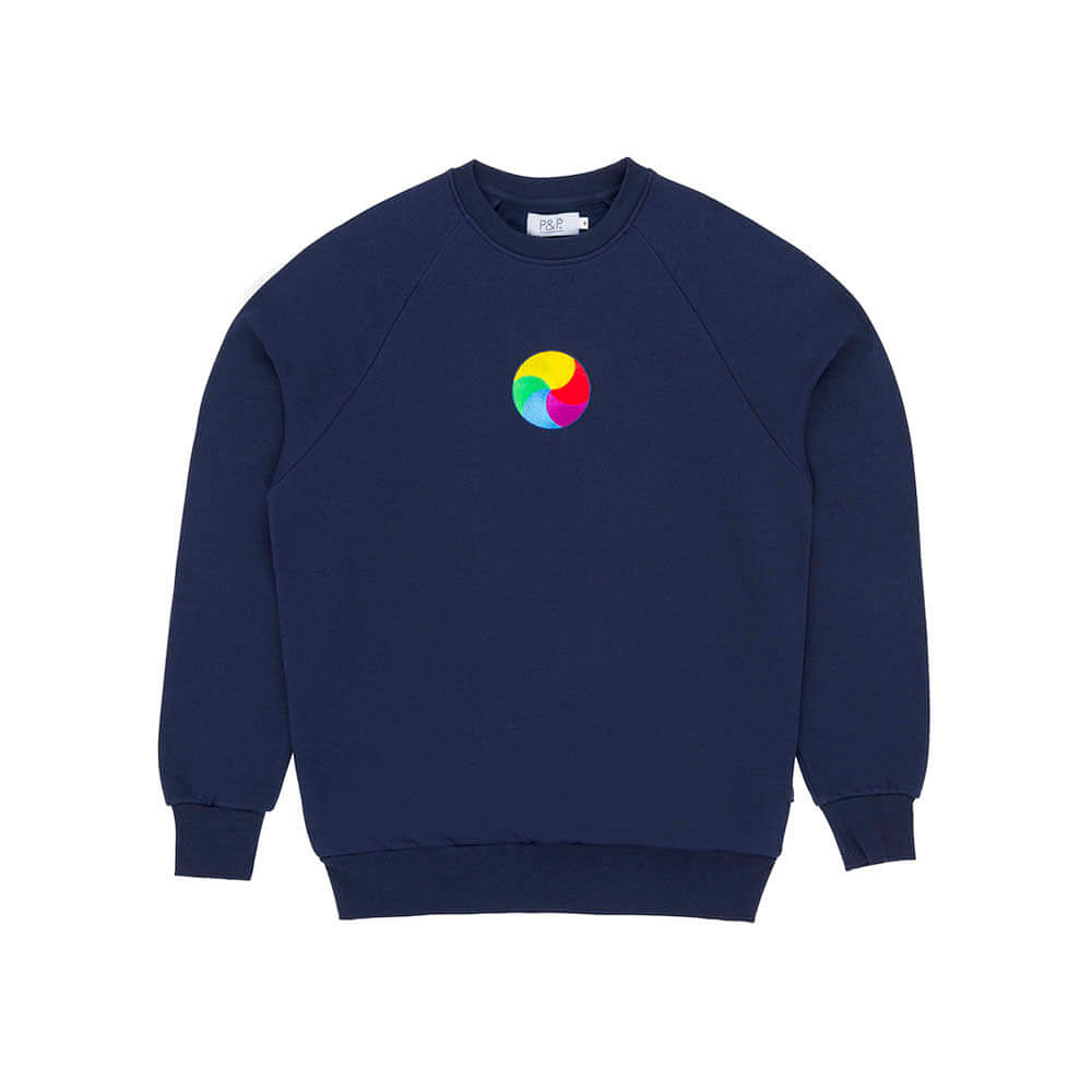 Crew Neck Sweatshirt PandP Patience Navy
