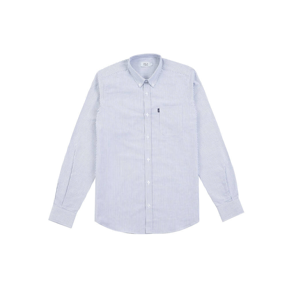 Classic Oxford Shirt Stripes Blue