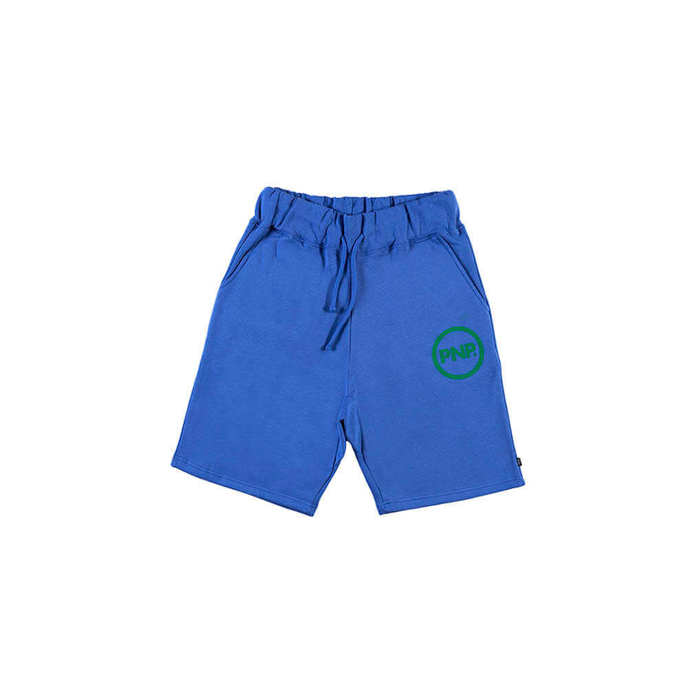 Organic Fleece Short Circle Royal Blue