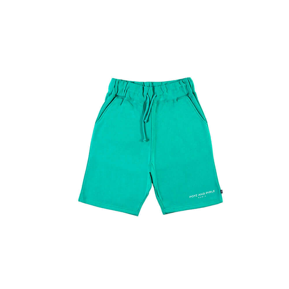 Organic Fleece Short Signature Green