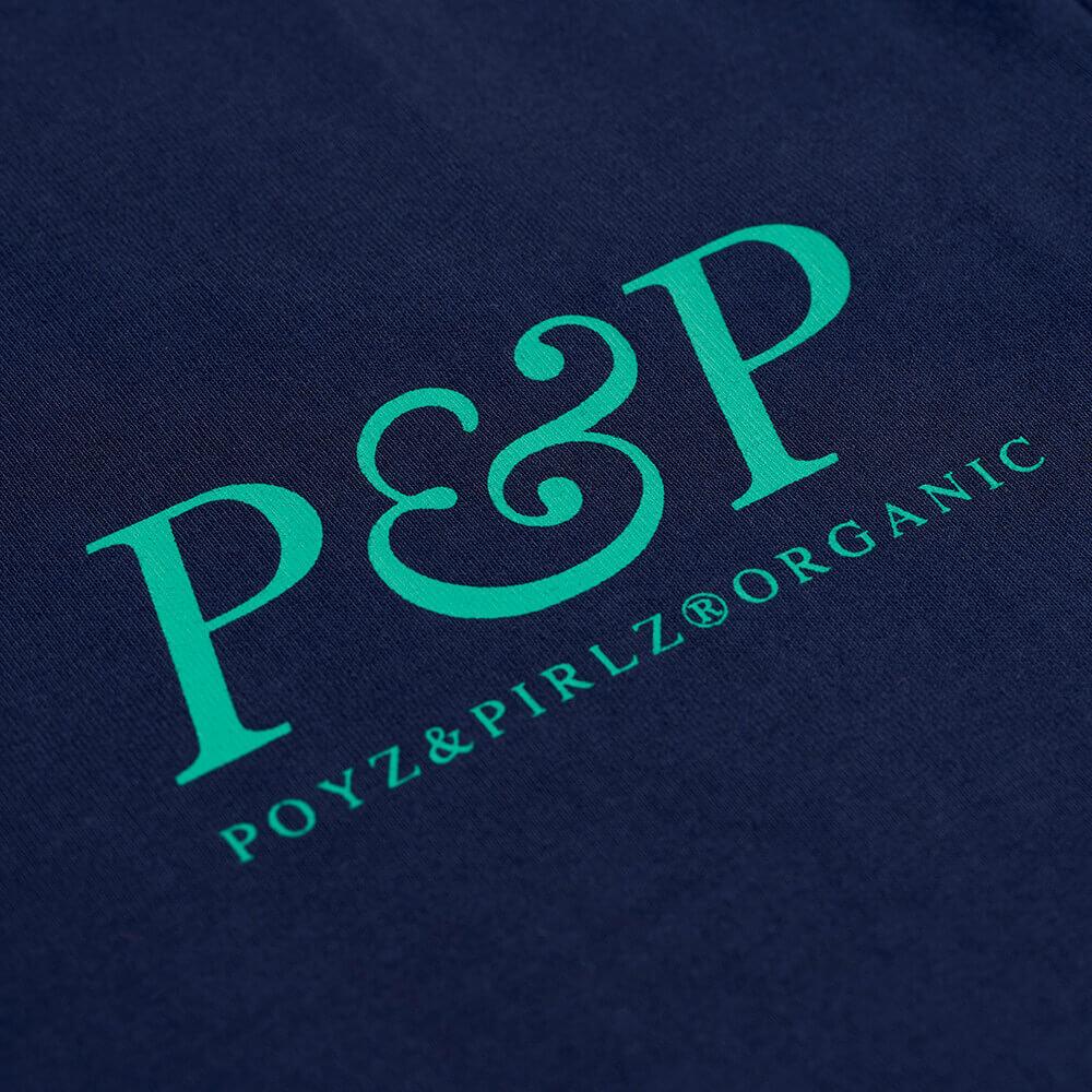 Organic T-Shirt P&P Planet Blue Print Detail