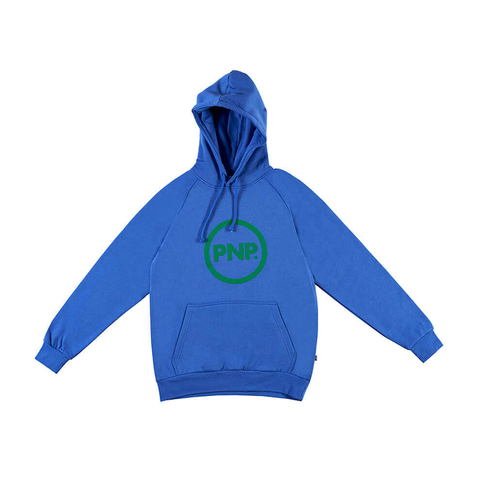 Organic Hoodie Circle Royal Blue