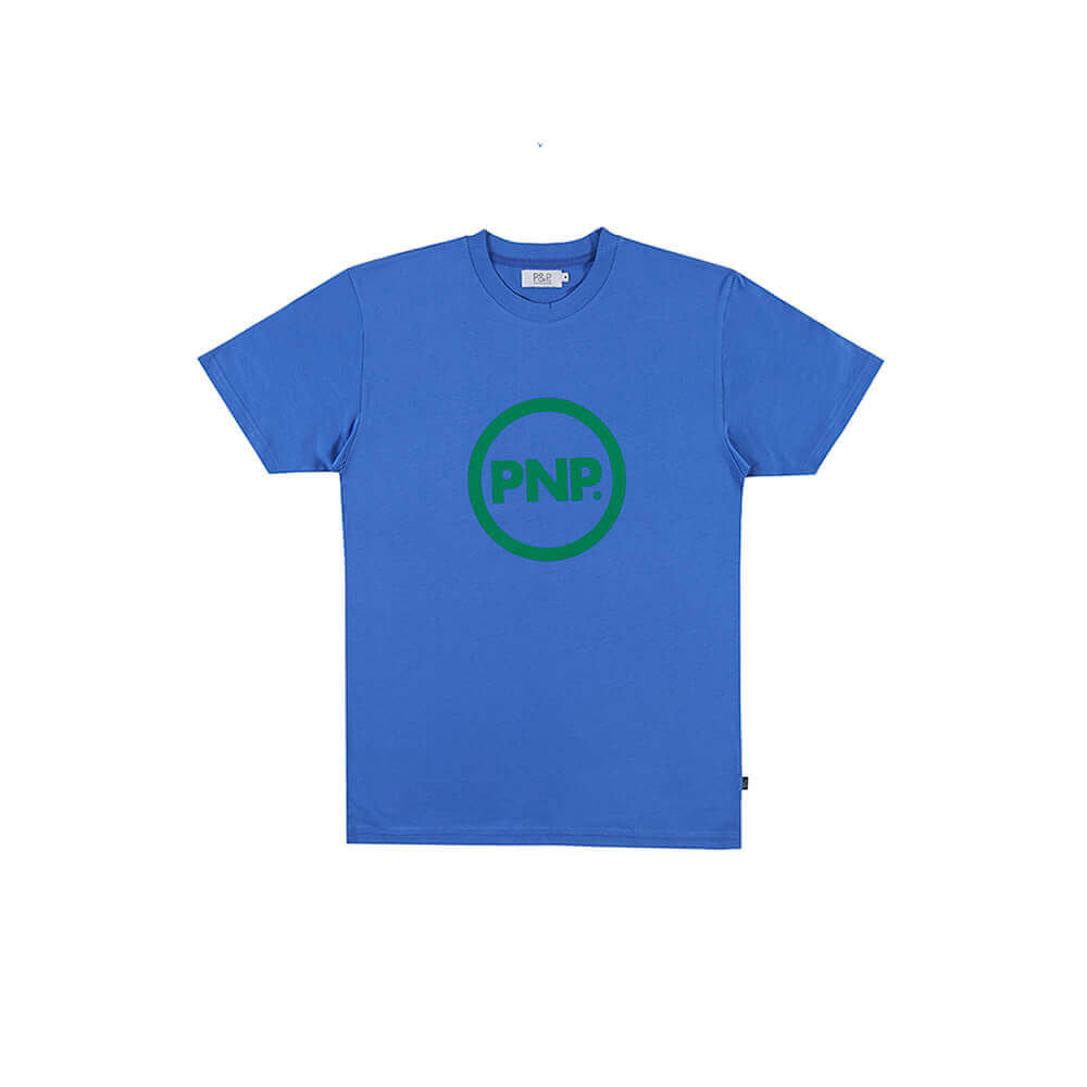 Organic T-Shirt Circle Royal Blue