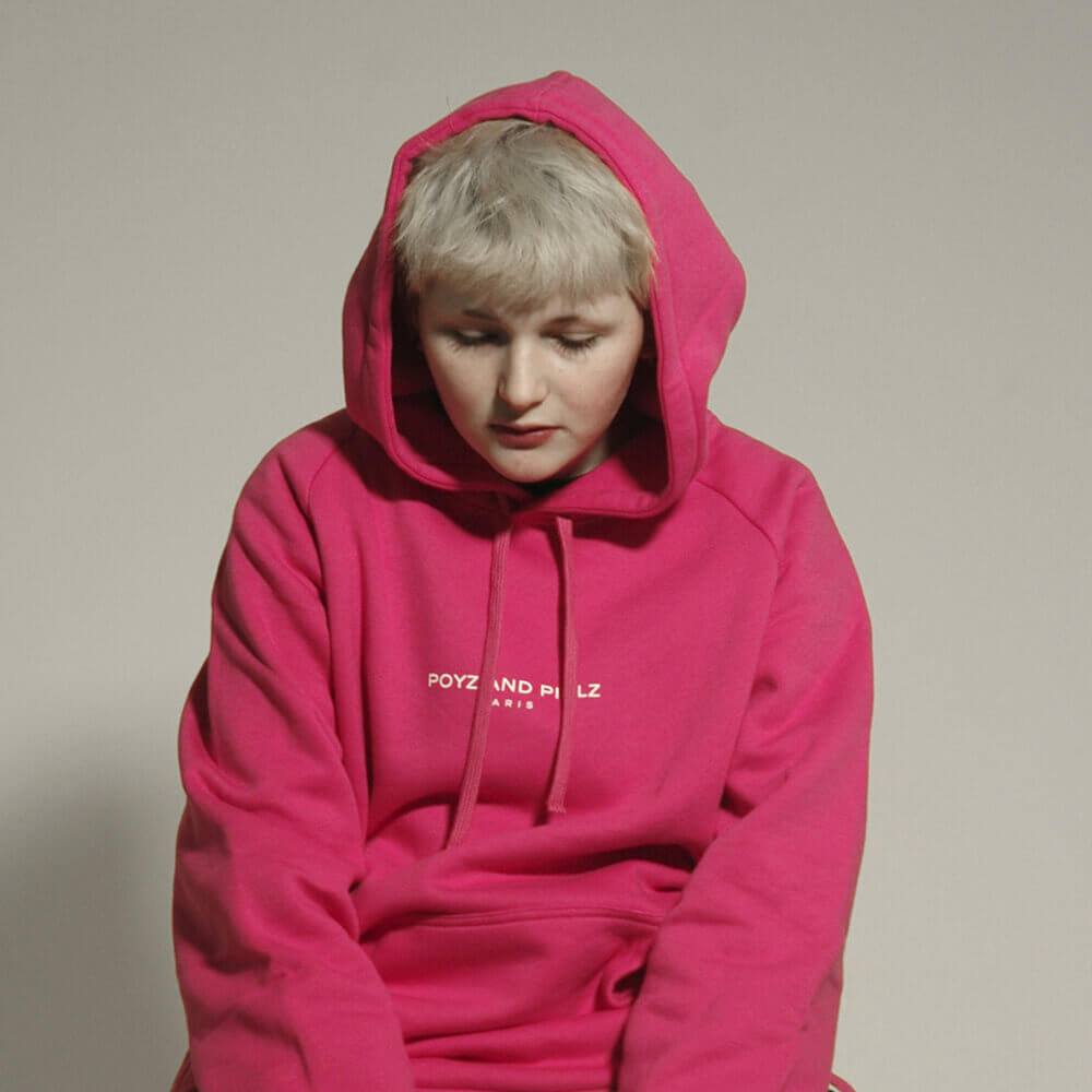 Organic Hoodie Signature Pink