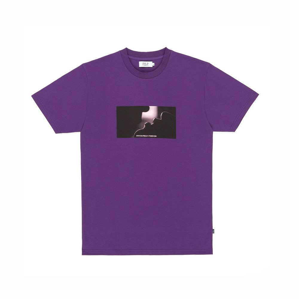 Organic Purple T-Shirt Kiss