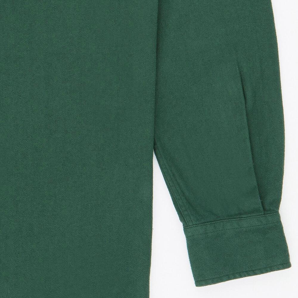 Flanel Shirt Dark Green Detail