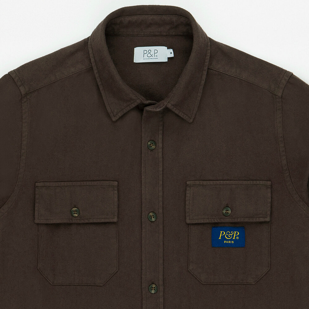 Flanel Shirt Brown Pocket Detail