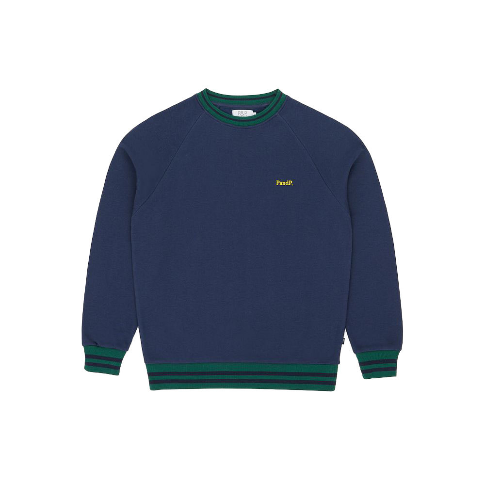 Crew Neck Sweatshirt PandP Navy Green
