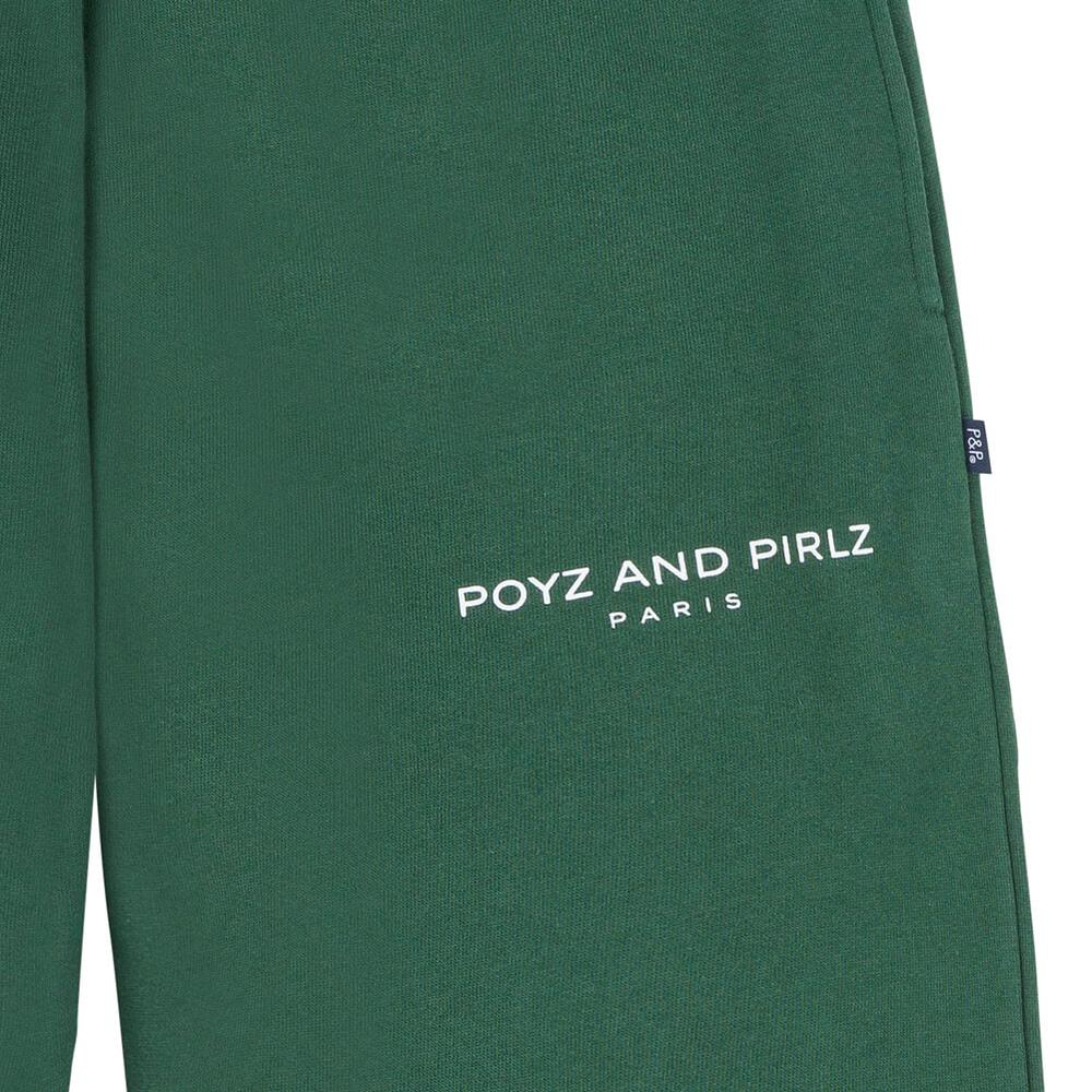 Organic Track Pants POYZ AND PIRLZ Signature Green Print Detail