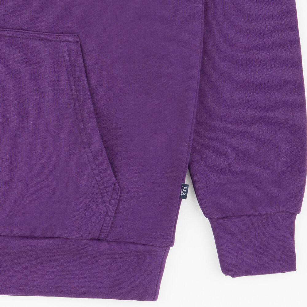 Hoodie Signature Purple Pocket Detail