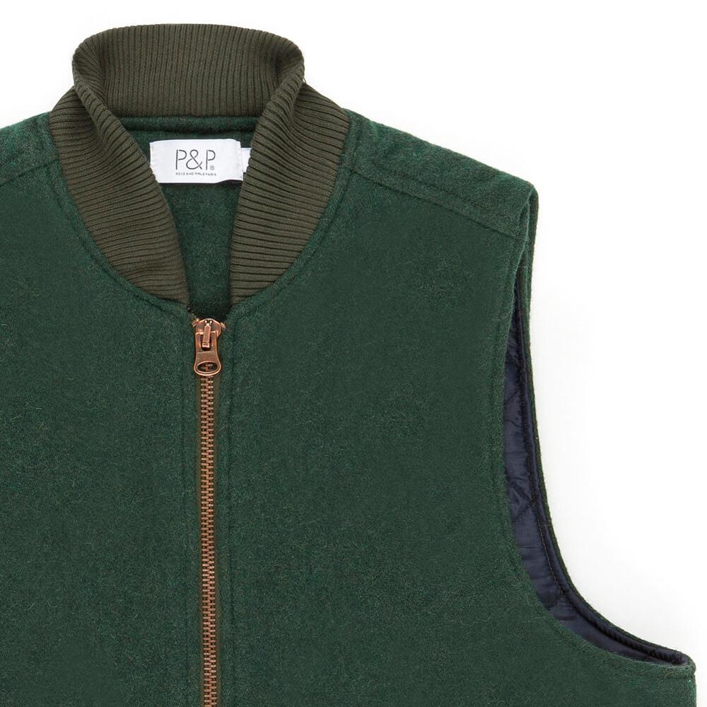 Vest Photo P&P Green Zip