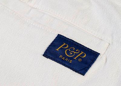 Organic Pants Easy White Pocket Detail