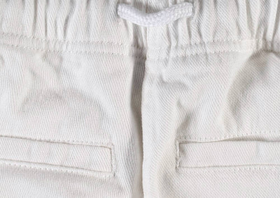 Organic Pants Easy White Pocket Detail