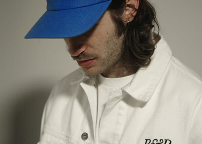 Jeans Jacket P&P White + 6 Panels Cap P&P Royal Blue