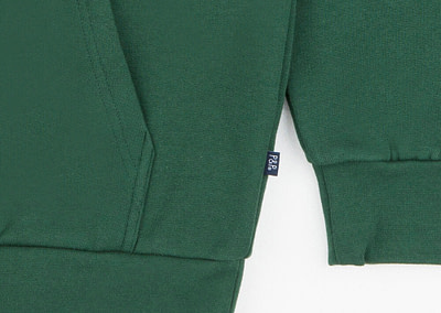Hoodie Signature Dark Green Pocket Detail