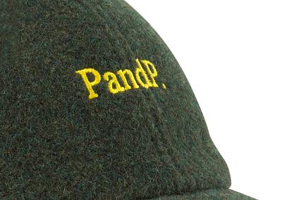 6 Panels Cap P&P dark green Embroidery Detail