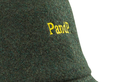 Bucket Hat P&P Dark Green Print Detail