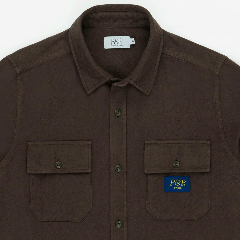 Flanel Shirt Brown Pocket Detail