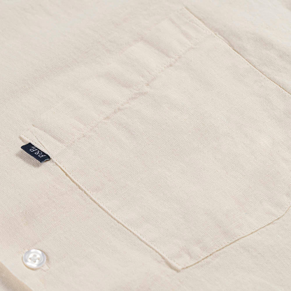 Button Up Shirt Blank Pocket Detail